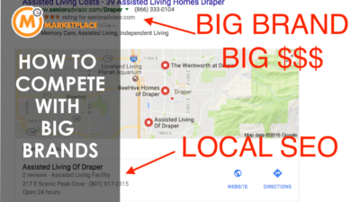 how to compete against big brands with local seo