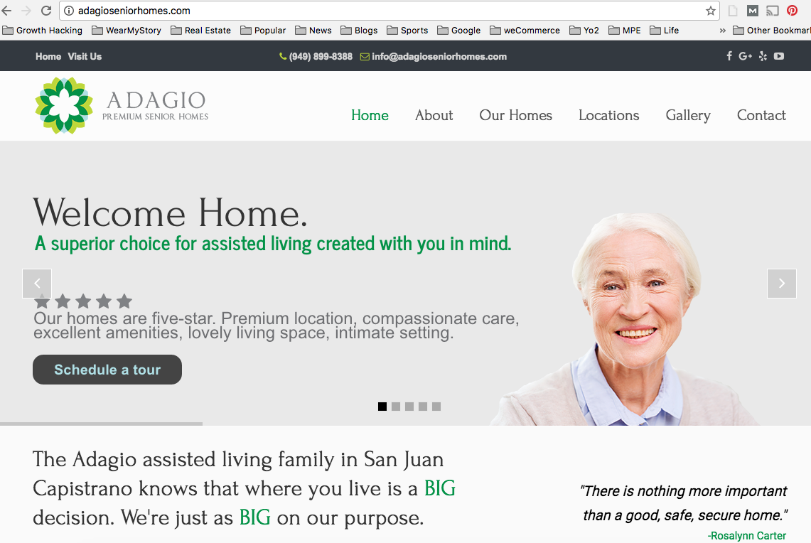 adagio senior homes - assisted living marketing strategy