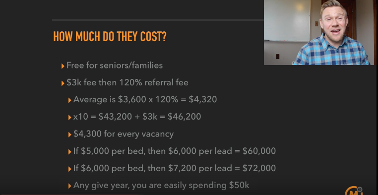 How much do placing agencies cost - assisted living marketing