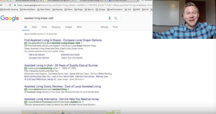 how placing agencies like aplaceformom get assisted living leads - adwords, seo, digital marketing strategy