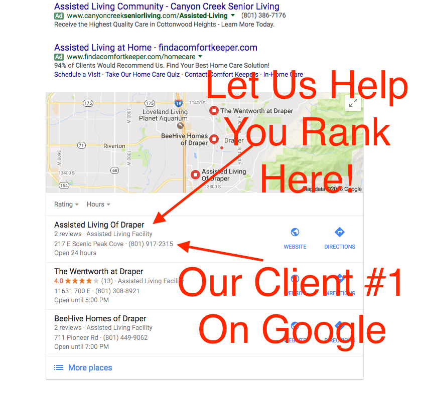 local seo services - ranking on google maps
