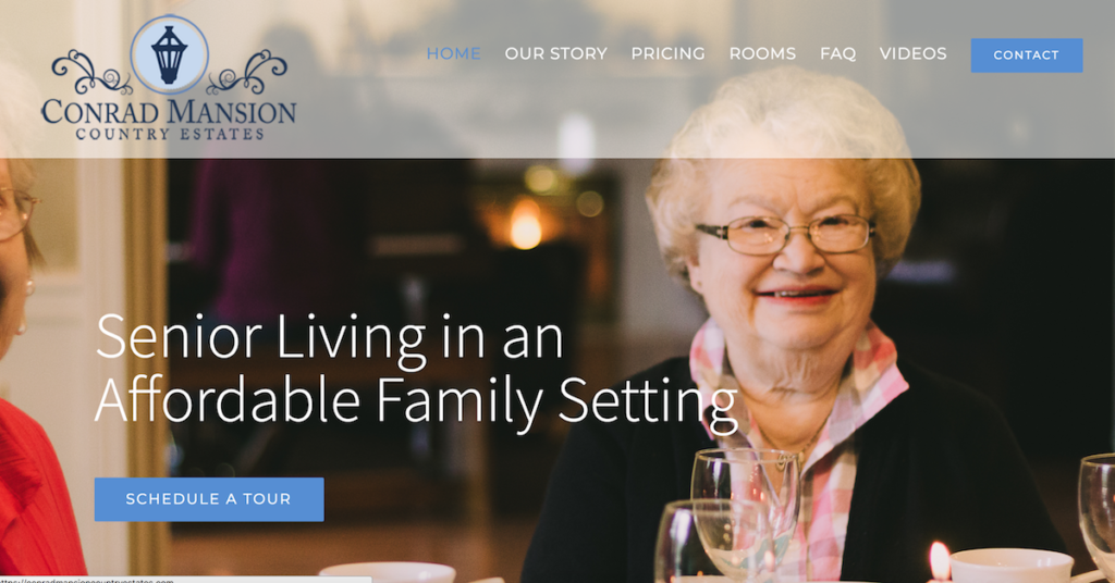 residential Assisted Living Websites - ConradMansionCountryEstates.com