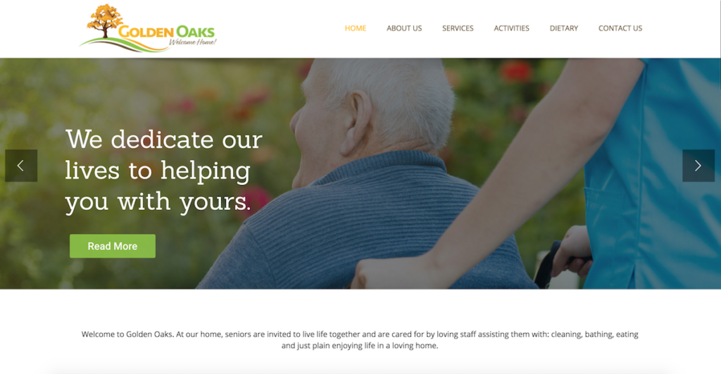 residential Assisted Living Websites - goldenoaks