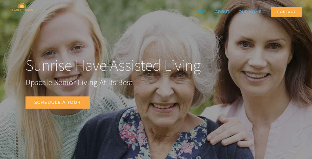 residential Assisted Living Websites - sunrise haven assisted living